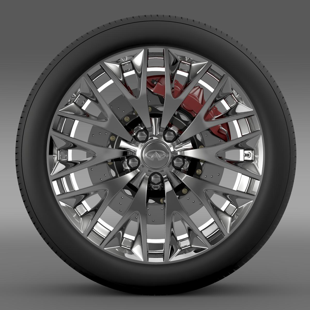 infinity ml wheel 3d model 3ds max fbx c4d lwo ma mb hrc xsi obj 210698