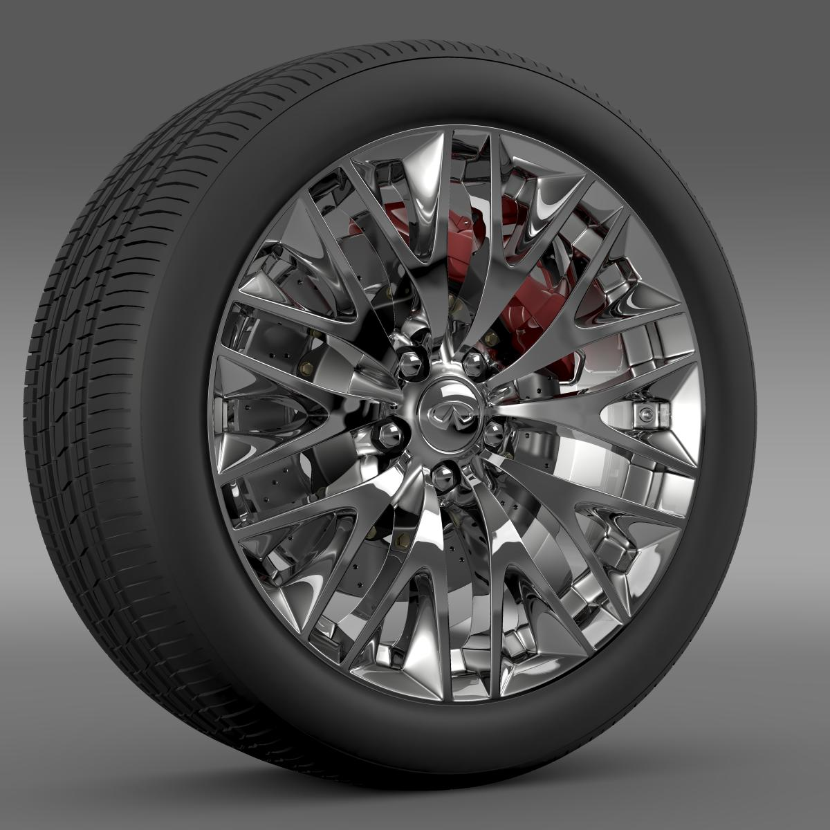 infinity ml wheel 3d model 3ds max fbx c4d lwo ma mb hrc xsi obj 210699