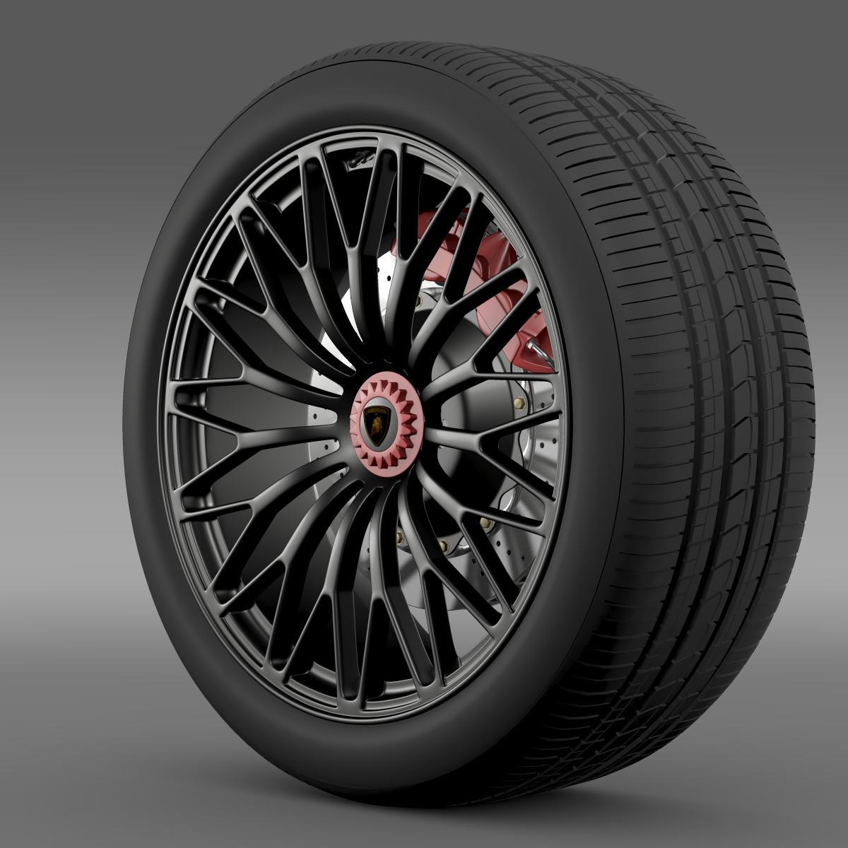 lamborghini aventador lp 750 4 sv wheel 3d model 3ds max fbx c4d lwo ma mb hrc xsi obj 210712