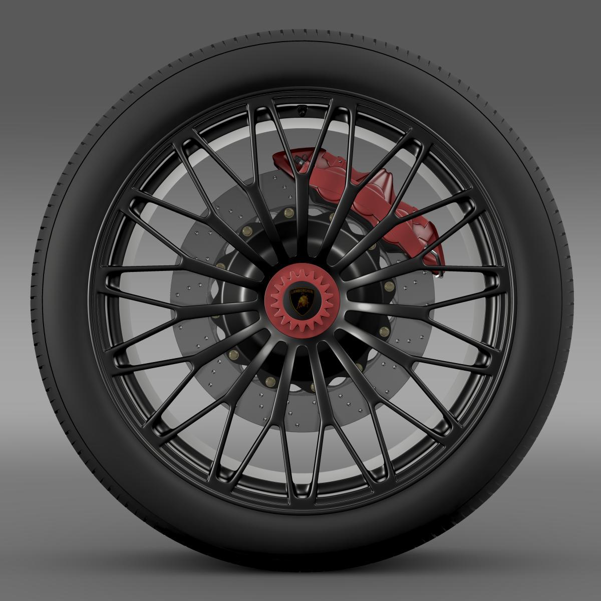 lamborghini aventador lp 750 4 sv wheel 3d model 3ds max fbx c4d lwo ma mb hrc xsi obj 210713