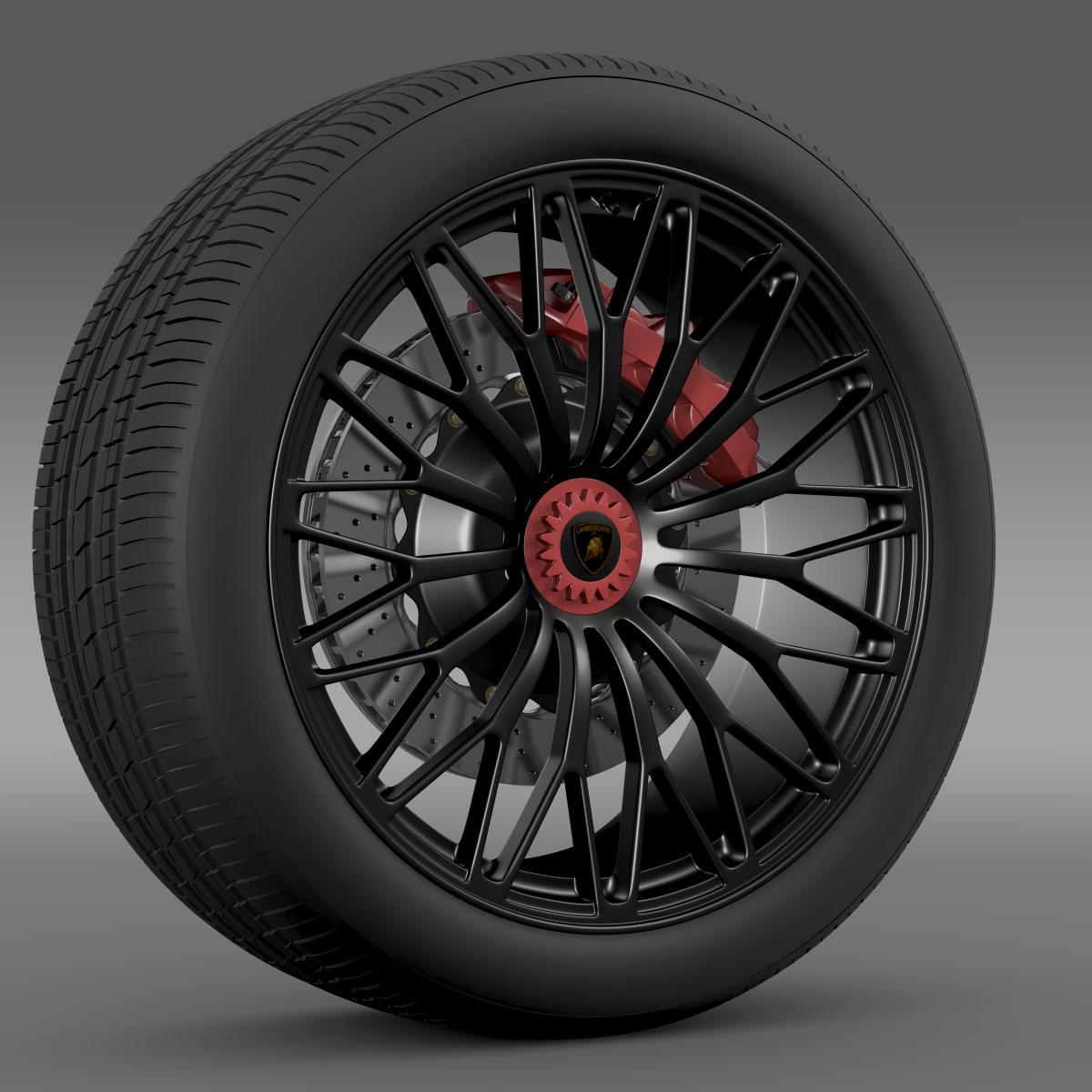 lamborghini aventador lp 750 4 sv wheel 3d model 3ds max fbx c4d lwo ma mb hrc xsi obj 210714