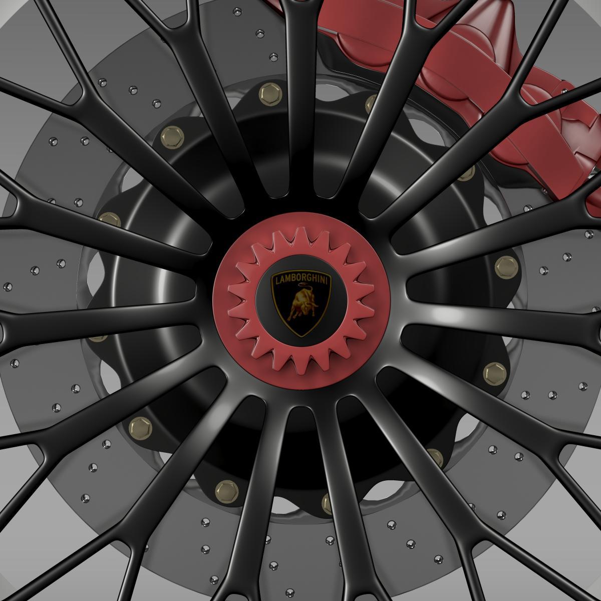 lamborghini aventador lp 750 4 sv wheel 3d model 3ds max fbx c4d lwo ma mb hrc xsi obj 210716