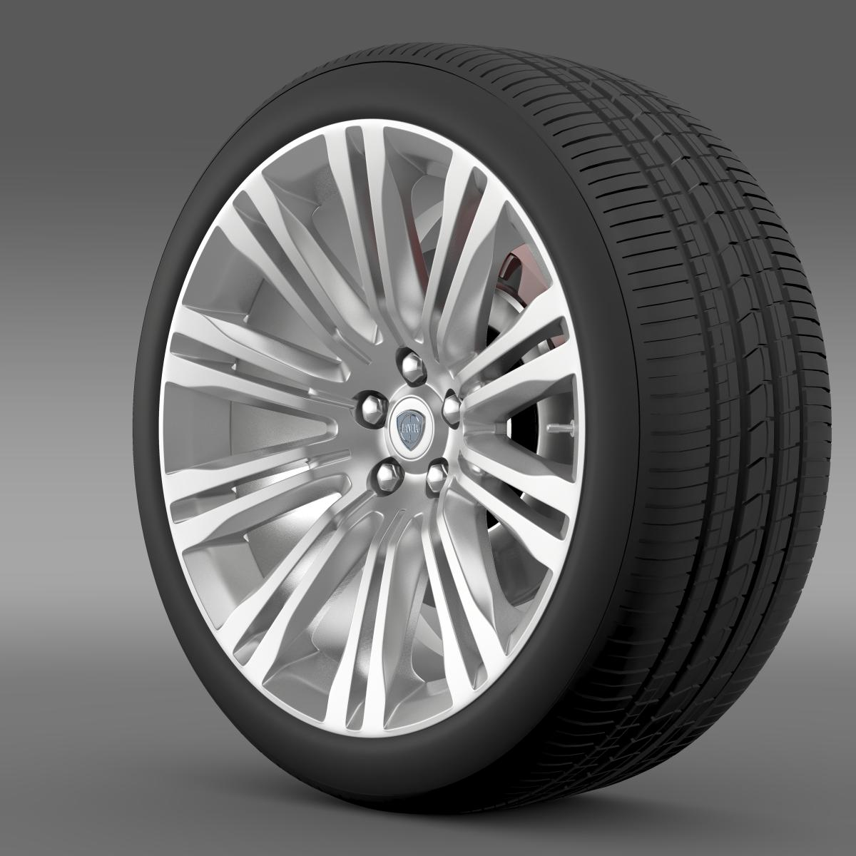 lancia thema 2014 wheel 3d model 3ds max fbx c4d lwo ma mb hrc xsi obj 210728
