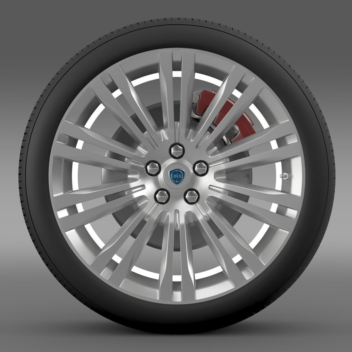 lancia thema 2014 wheel 3d model 3ds max fbx c4d lwo ma mb hrc xsi obj 210729