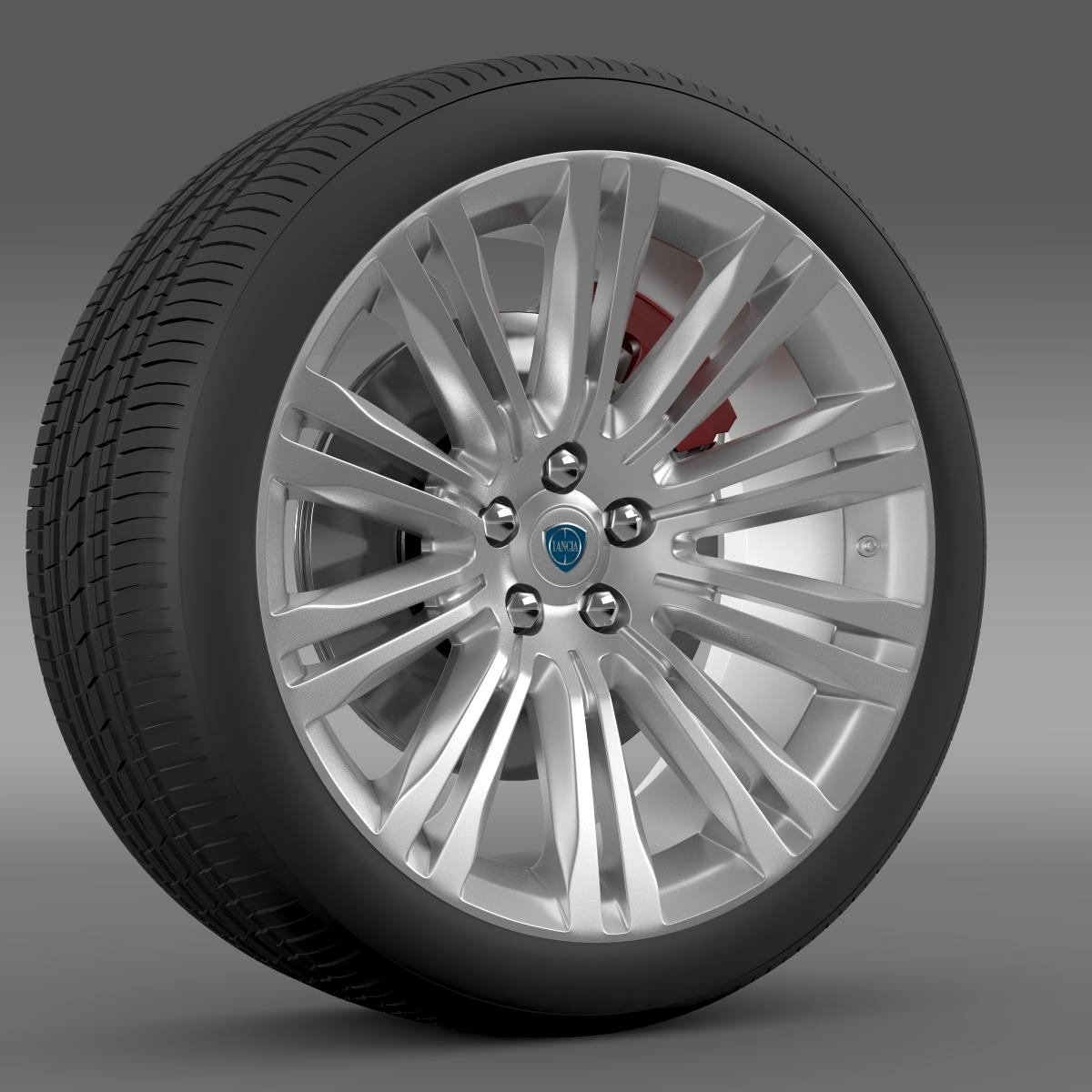 lancia thema 2014 wheel 3d model 3ds max fbx c4d lwo ma mb hrc xsi obj 210730