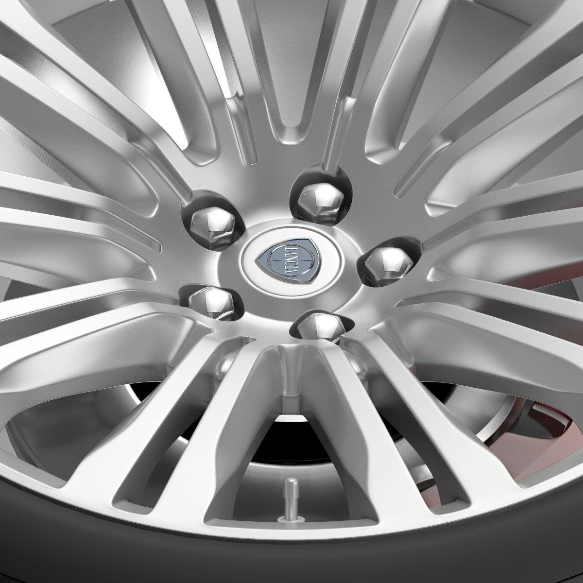 lancia thema 2014 wheel 3d model 3ds max fbx c4d lwo ma mb hrc xsi obj 210731