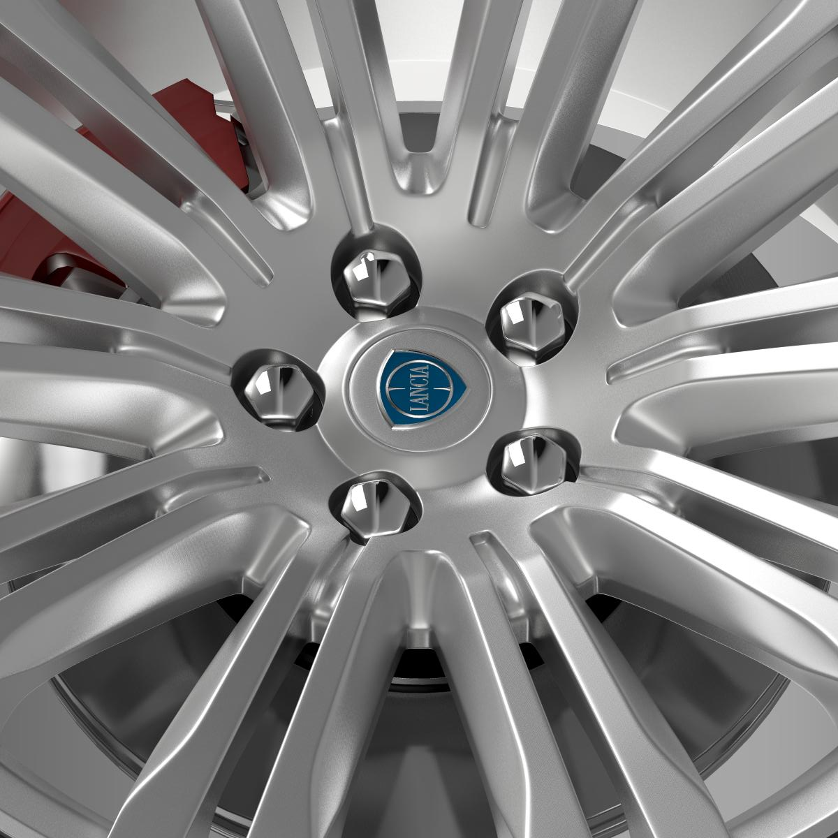lancia thema 2014 wheel 3d model 3ds max fbx c4d lwo ma mb hrc xsi obj 210733