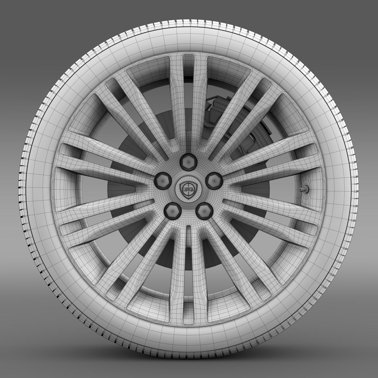 lancia thema 2014 wheel 3d model 3ds max fbx c4d lwo ma mb hrc xsi obj 210737