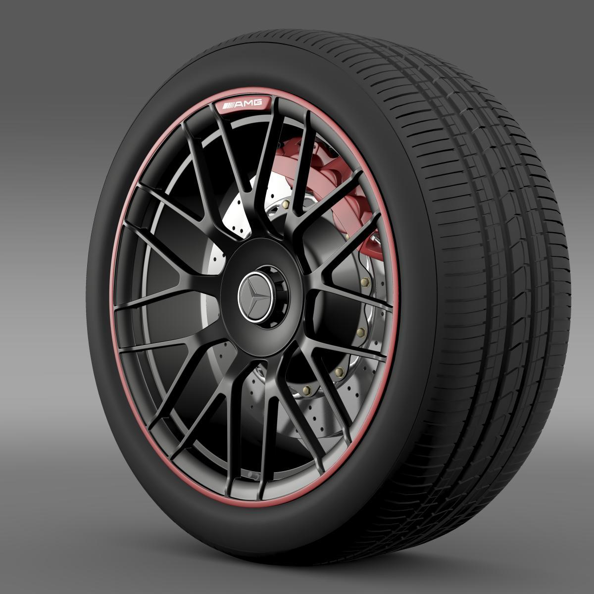 mercedes amg c 63 s edition wheel 3d model 3ds max fbx c4d lwo ma mb hrc xsi obj 210742