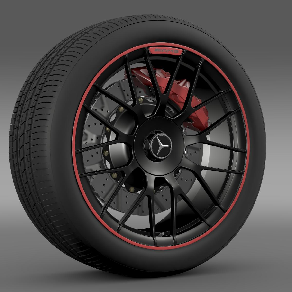 mercedes amg c 63 s edition wheel 3d model 3ds max fbx c4d lwo ma mb hrc xsi obj 210744