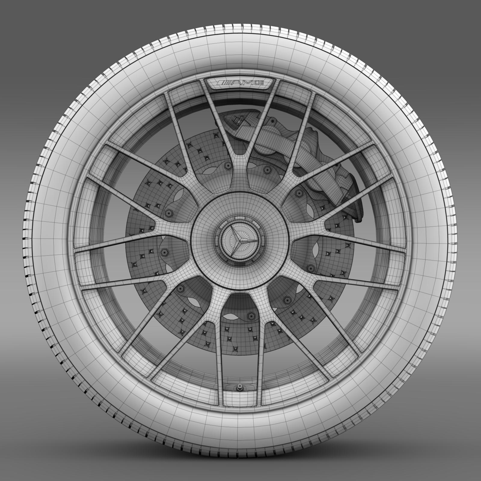 mercedes amg c 63 s edition wheel 3d model 3ds max fbx c4d lwo ma mb hrc xsi obj 210750