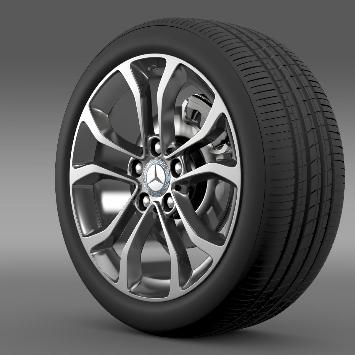 mercedes benz c 220 wheel 3d model 3ds max fbx c4d lwo ma mb hrc xsi obj 210756