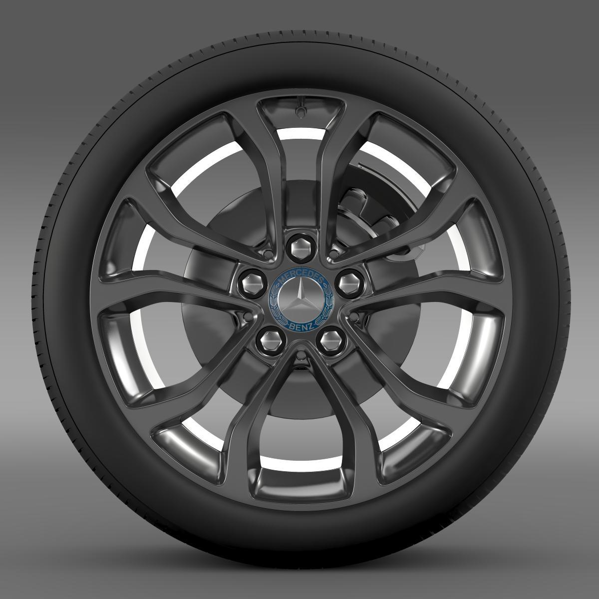 mercedes benz c 220 wheel 3d model 3ds max fbx c4d lwo ma mb hrc xsi obj 210757
