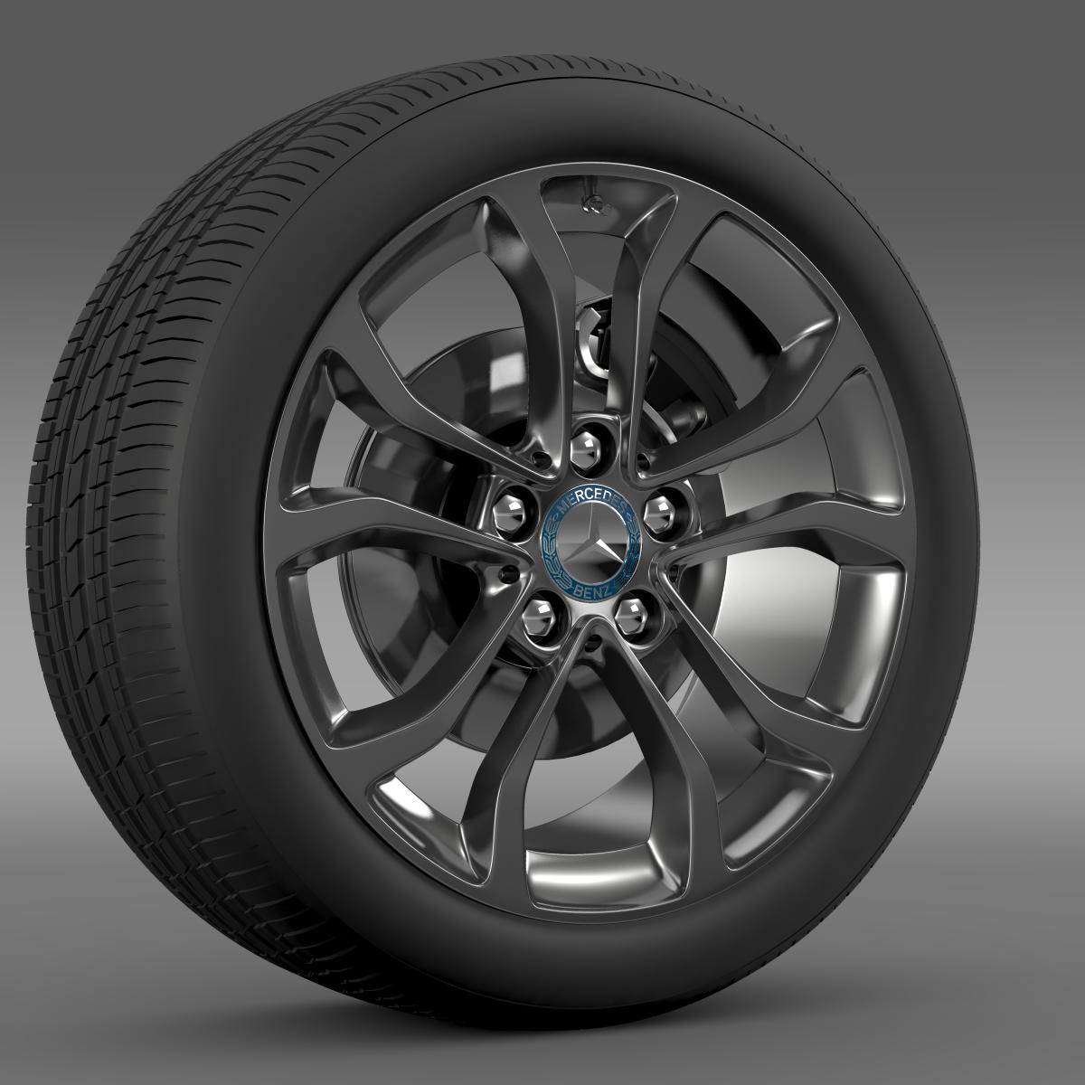 mercedes benz c 220 wheel 3d model 3ds max fbx c4d lwo ma mb hrc xsi obj 210758