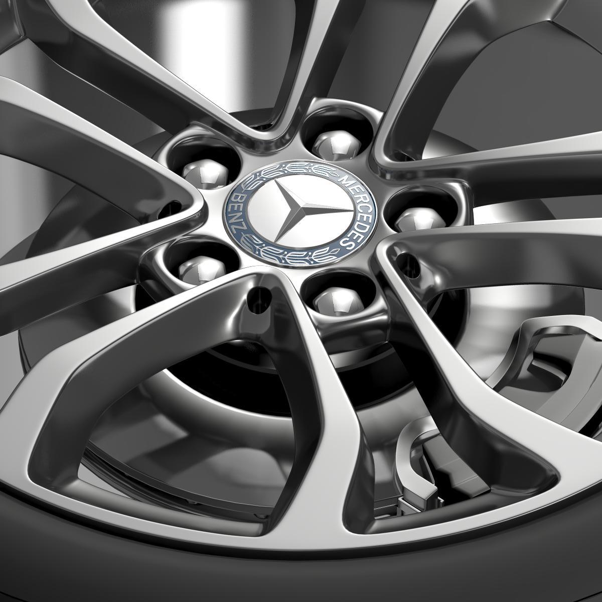 mercedes benz c 220 wheel 3d model 3ds max fbx c4d lwo ma mb hrc xsi obj 210759