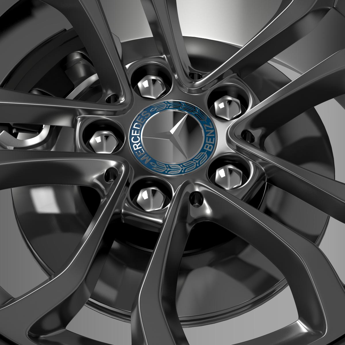mercedes benz c 220 wheel 3d model 3ds max fbx c4d lwo ma mb hrc xsi obj 210761