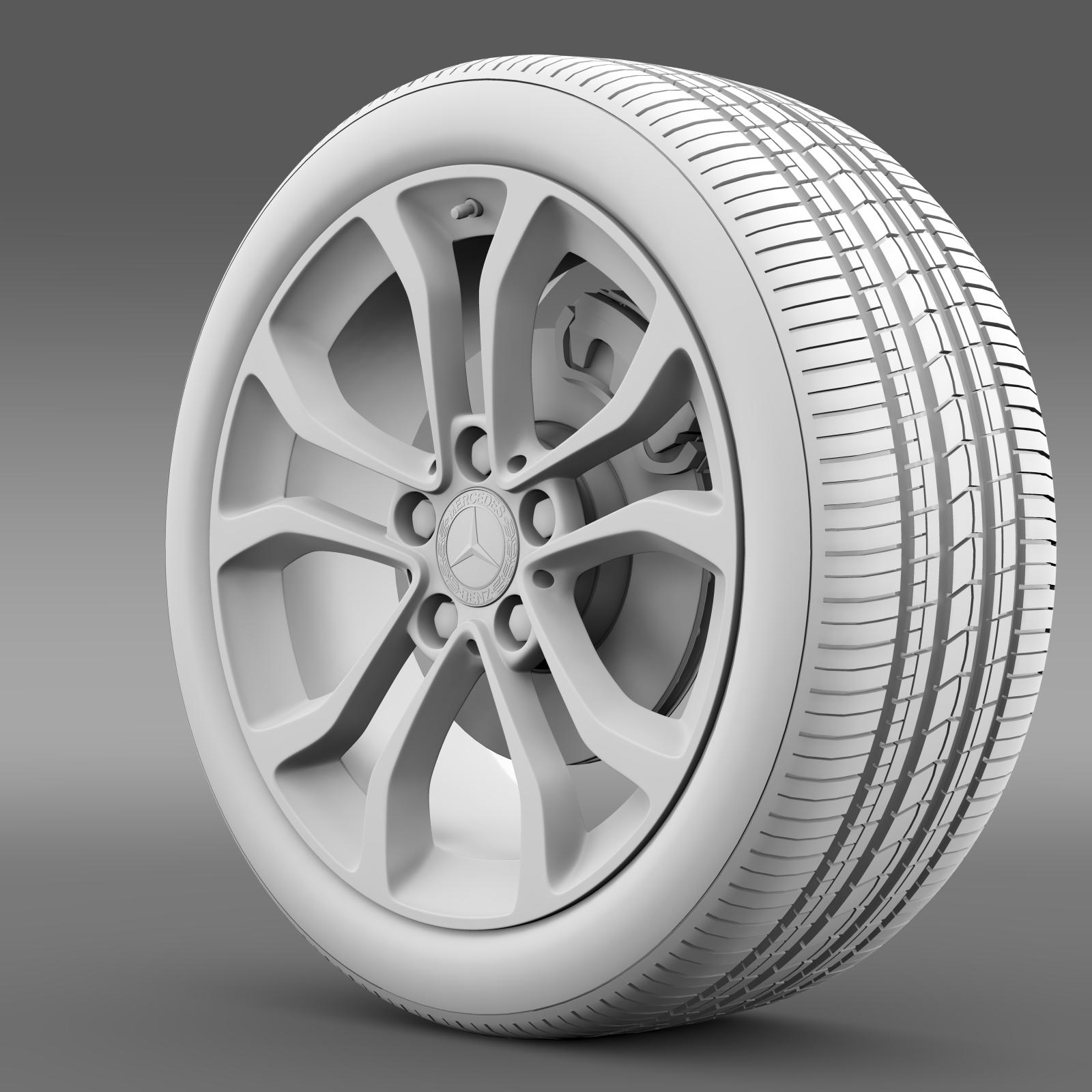 mercedes benz c 220 wheel 3d model 3ds max fbx c4d lwo ma mb hrc xsi obj 210762