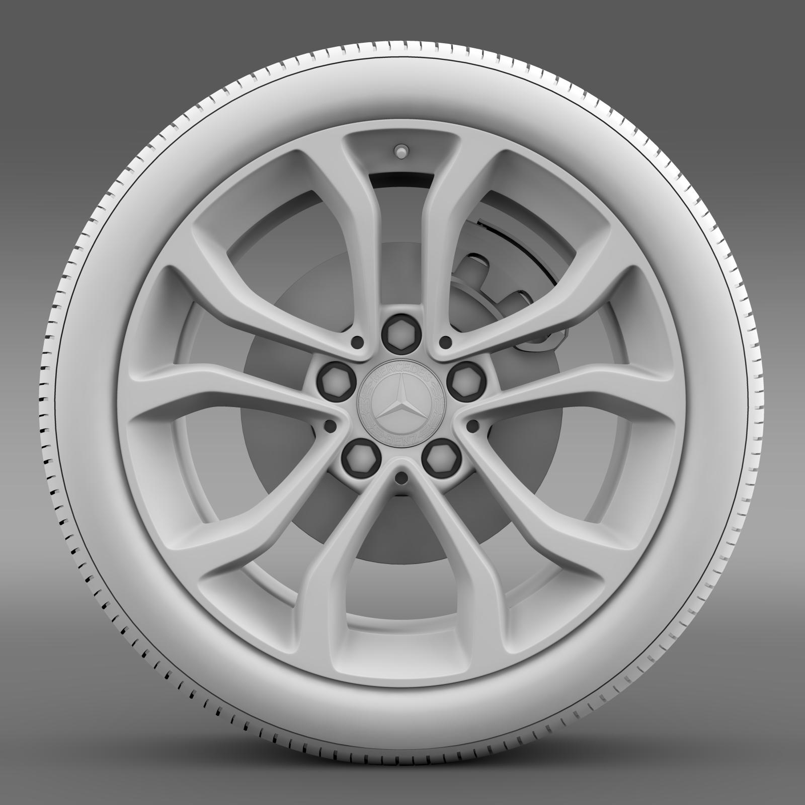 mercedes benz c 220 wheel 3d model 3ds max fbx c4d lwo ma mb hrc xsi obj 210763