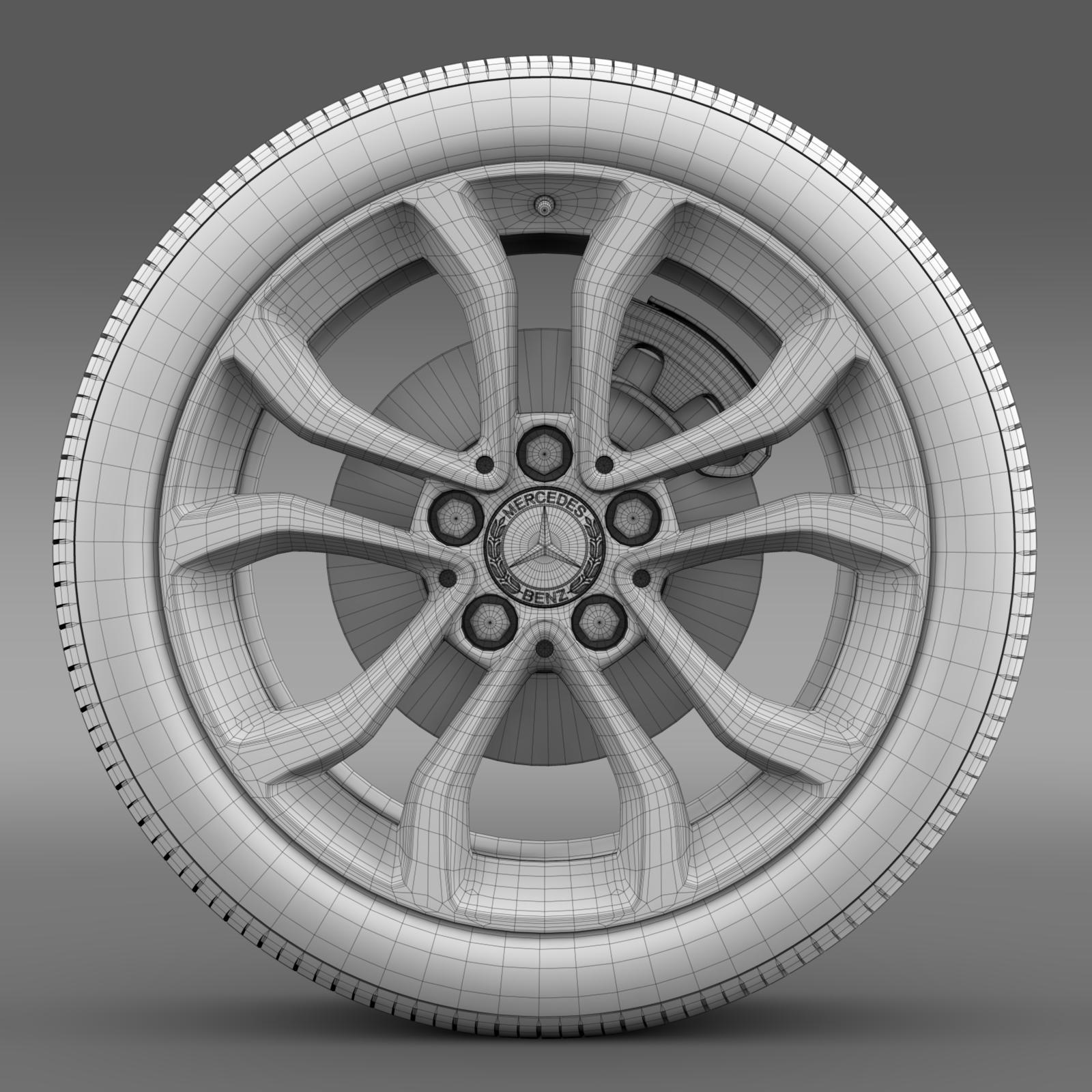 mercedes benz c 220 wheel 3d model 3ds max fbx c4d lwo ma mb hrc xsi obj 210765