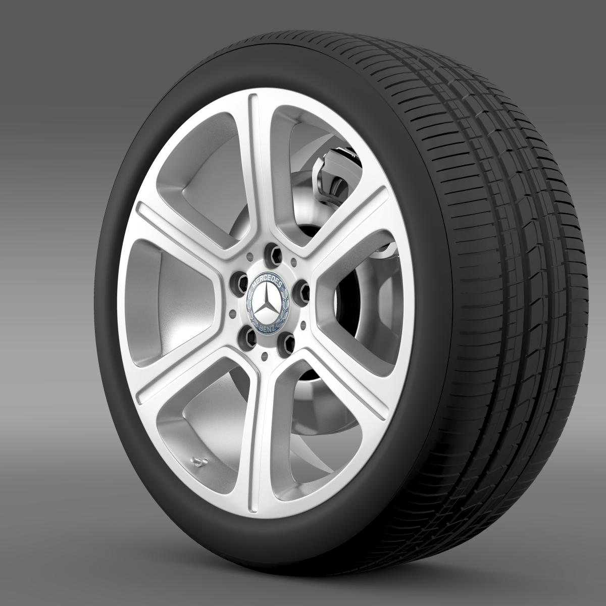 mercedes benz c 300 exclusive line wheel 3d model 3ds max fbx c4d lwo ma mb hrc xsi obj 210770