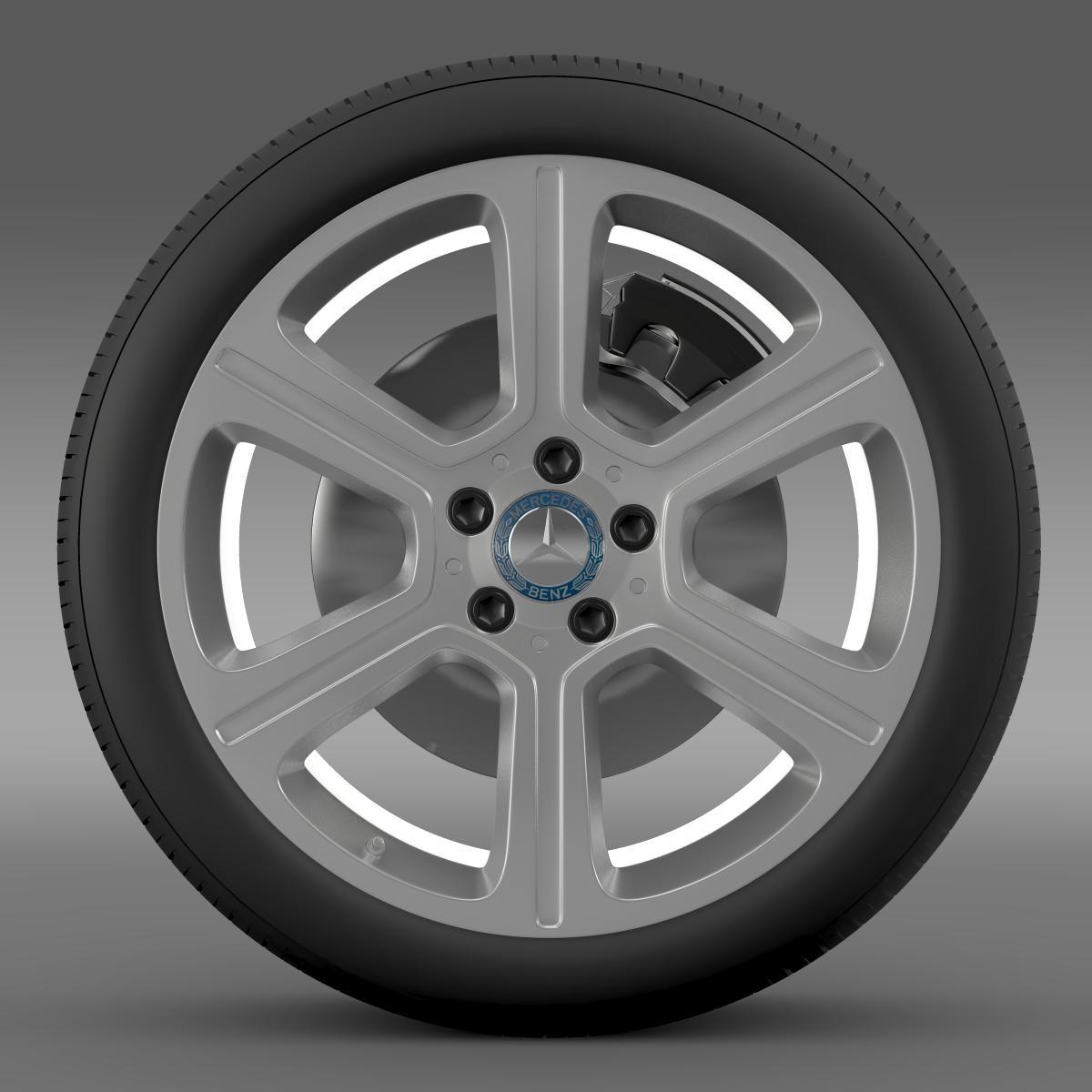 mercedes benz c 300 exclusive line wheel 3d model 3ds max fbx c4d lwo ma mb hrc xsi obj 210771