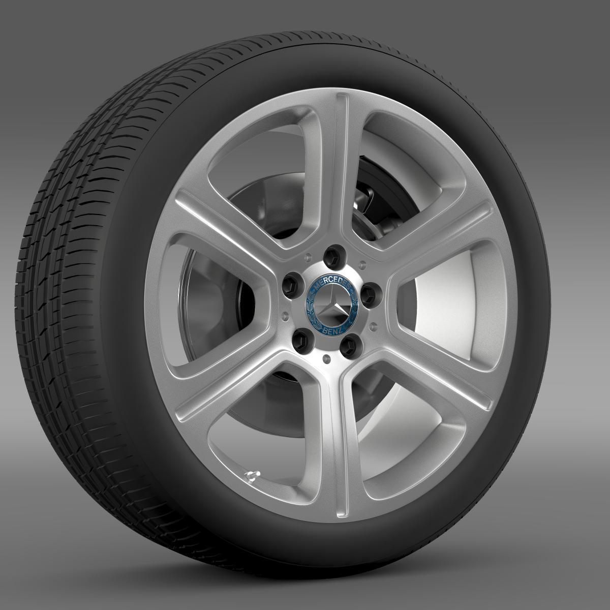 mercedes benz c 300 exclusive line wheel 3d model 3ds max fbx c4d lwo ma mb hrc xsi obj 210772