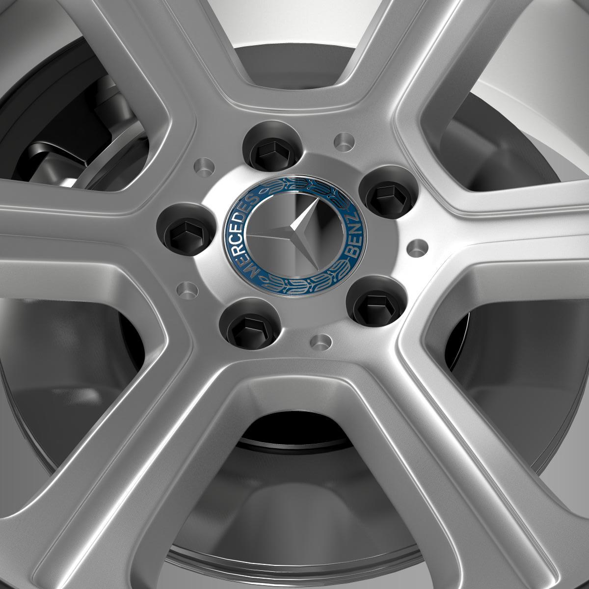 mercedes benz c 300 exclusive line wheel 3d model 3ds max fbx c4d lwo ma mb hrc xsi obj 210775