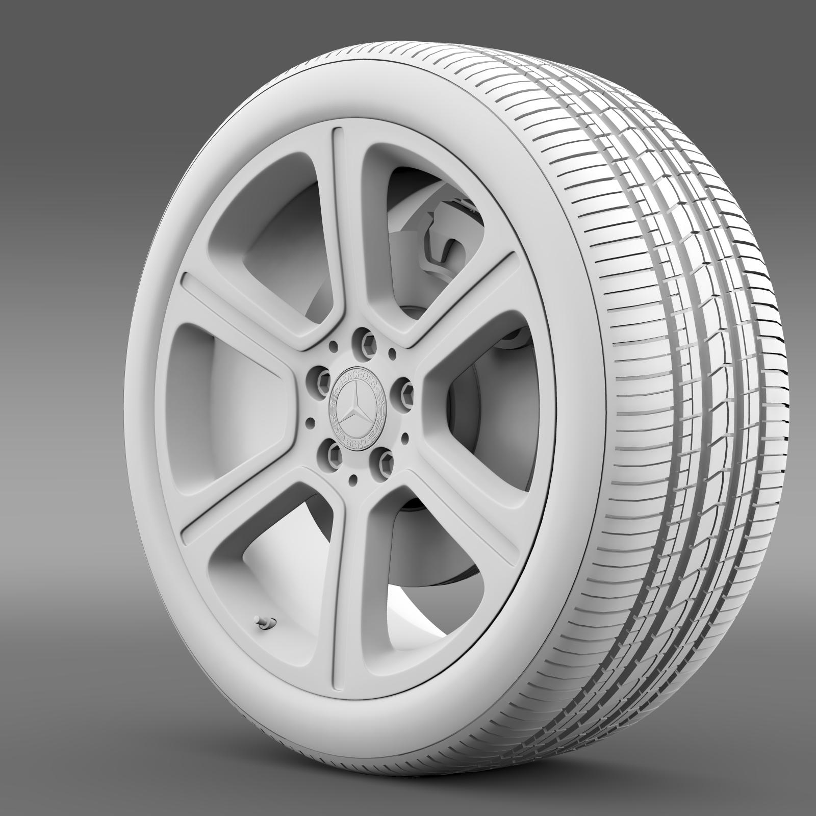 mercedes benz c 300 exclusive line wheel 3d model 3ds max fbx c4d lwo ma mb hrc xsi obj 210776