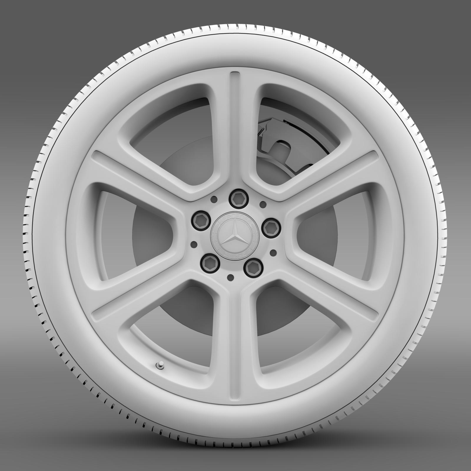 mercedes benz c 300 exclusive line wheel 3d model 3ds max fbx c4d lwo ma mb hrc xsi obj 210777