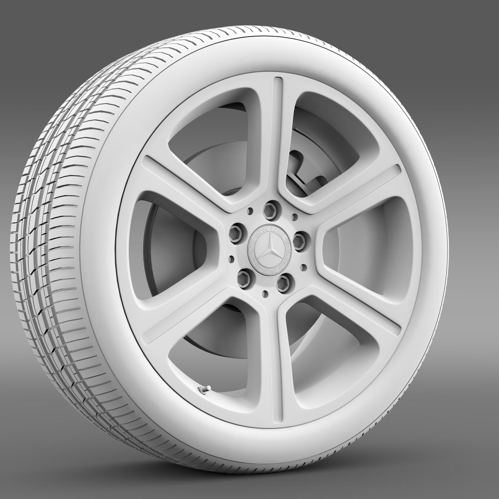 mercedes benz c 300 exclusive line wheel 3d model 3ds max fbx c4d lwo ma mb hrc xsi obj 210778
