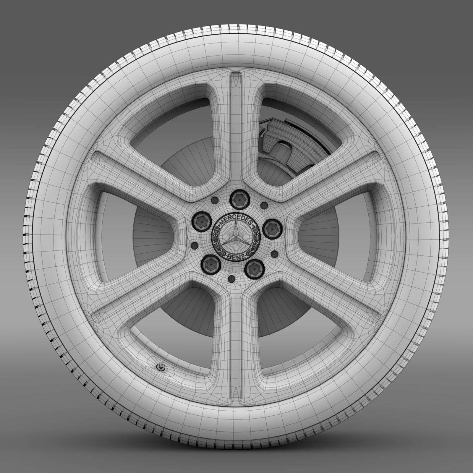 mercedes benz c 300 exclusive line wheel 3d model 3ds max fbx c4d lwo ma mb hrc xsi obj 210779
