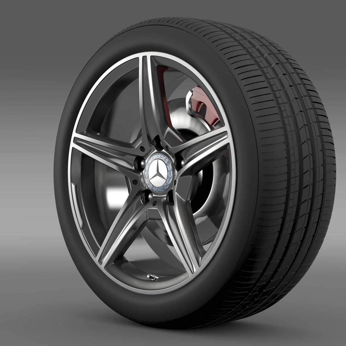 mercedes benz c 400 4matic amg line wheel 3d model 3ds max fbx c4d lwo ma mb hrc xsi obj 210784