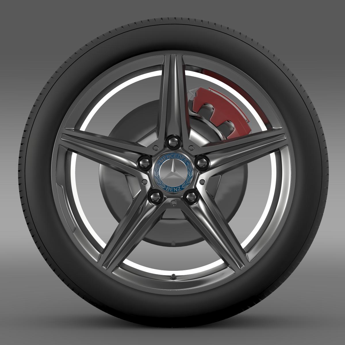 mercedes benz c 400 4matic amg line wheel 3d model 3ds max fbx c4d lwo ma mb hrc xsi obj 210785