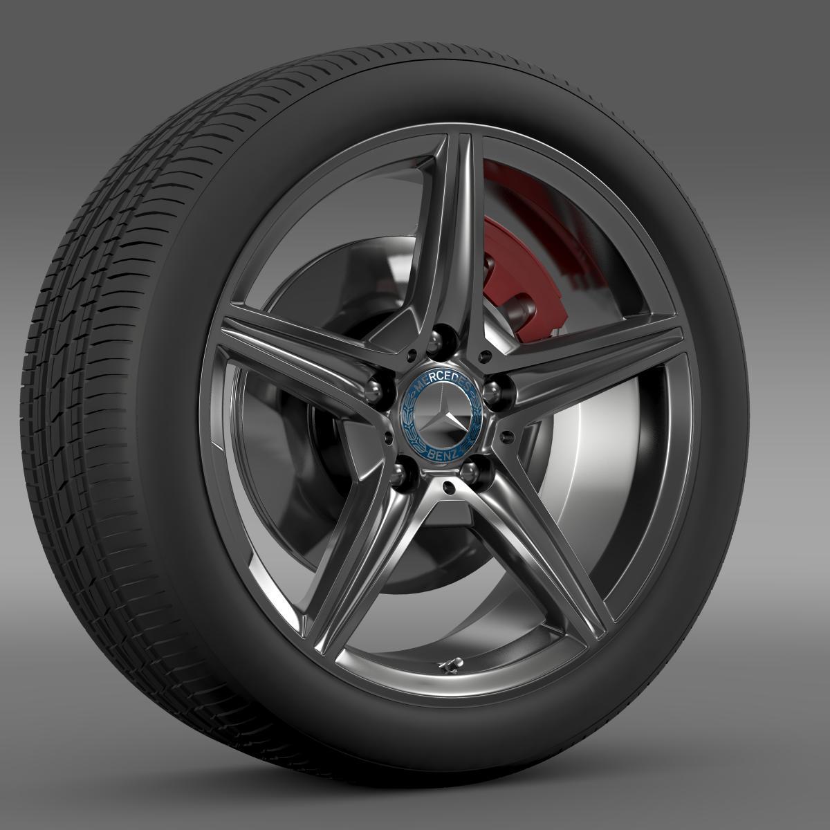 mercedes benz c 400 4matic amg line wheel 3d model 3ds max fbx c4d lwo ma mb hrc xsi obj 210786