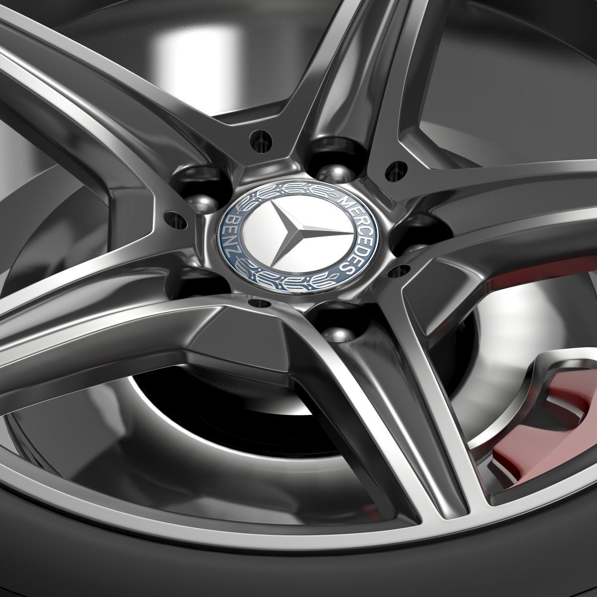 mercedes benz c 400 4matic amg line wheel 3d model 3ds max fbx c4d lwo ma mb hrc xsi obj 210787