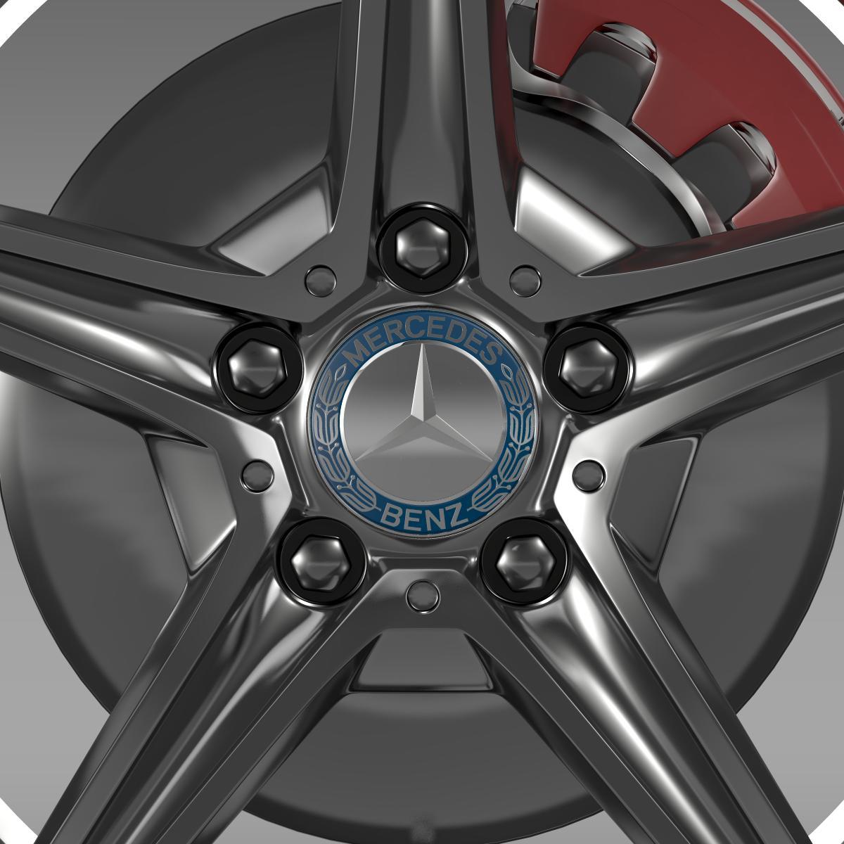 mercedes benz c 400 4matic amg line wheel 3d model 3ds max fbx c4d lwo ma mb hrc xsi obj 210788
