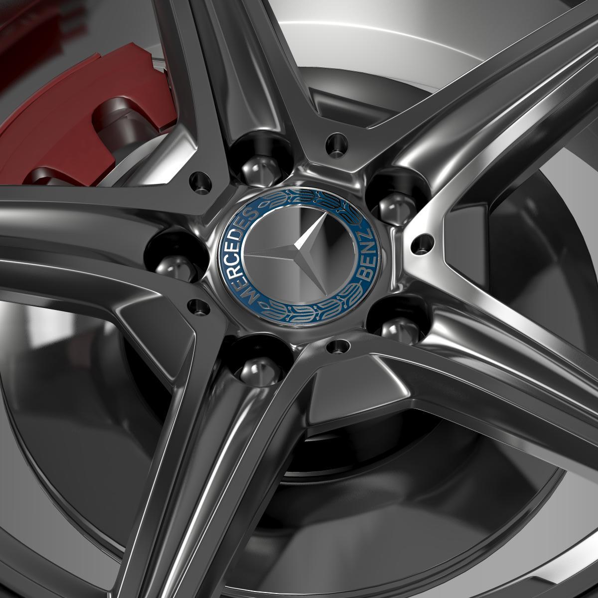 mercedes benz c 400 4matic amg line wheel 3d model 3ds max fbx c4d lwo ma mb hrc xsi obj 210789