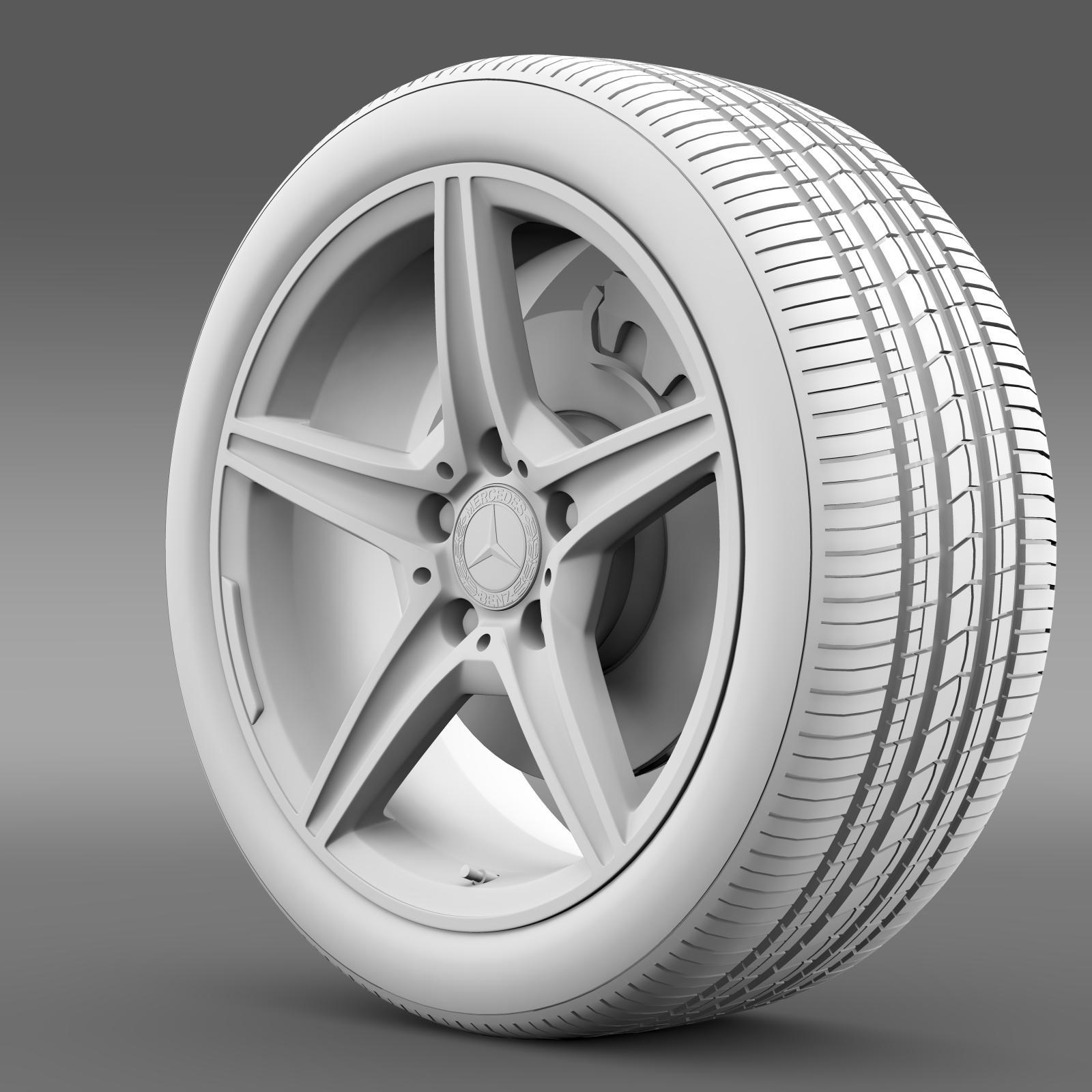mercedes benz c 400 4matic amg line wheel 3d model 3ds max fbx c4d lwo ma mb hrc xsi obj 210790