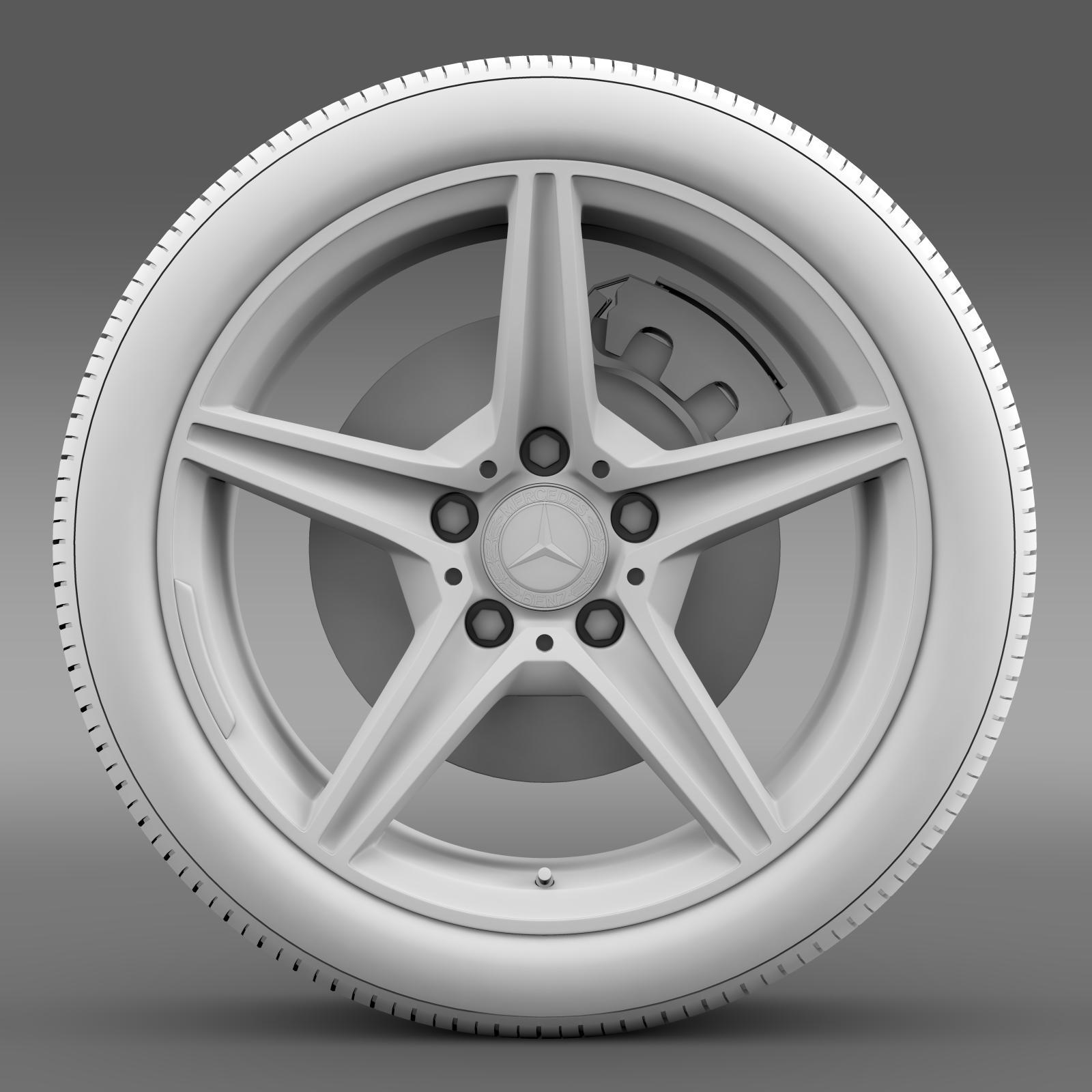 mercedes benz c 400 4matic amg line wheel 3d model 3ds max fbx c4d lwo ma mb hrc xsi obj 210791