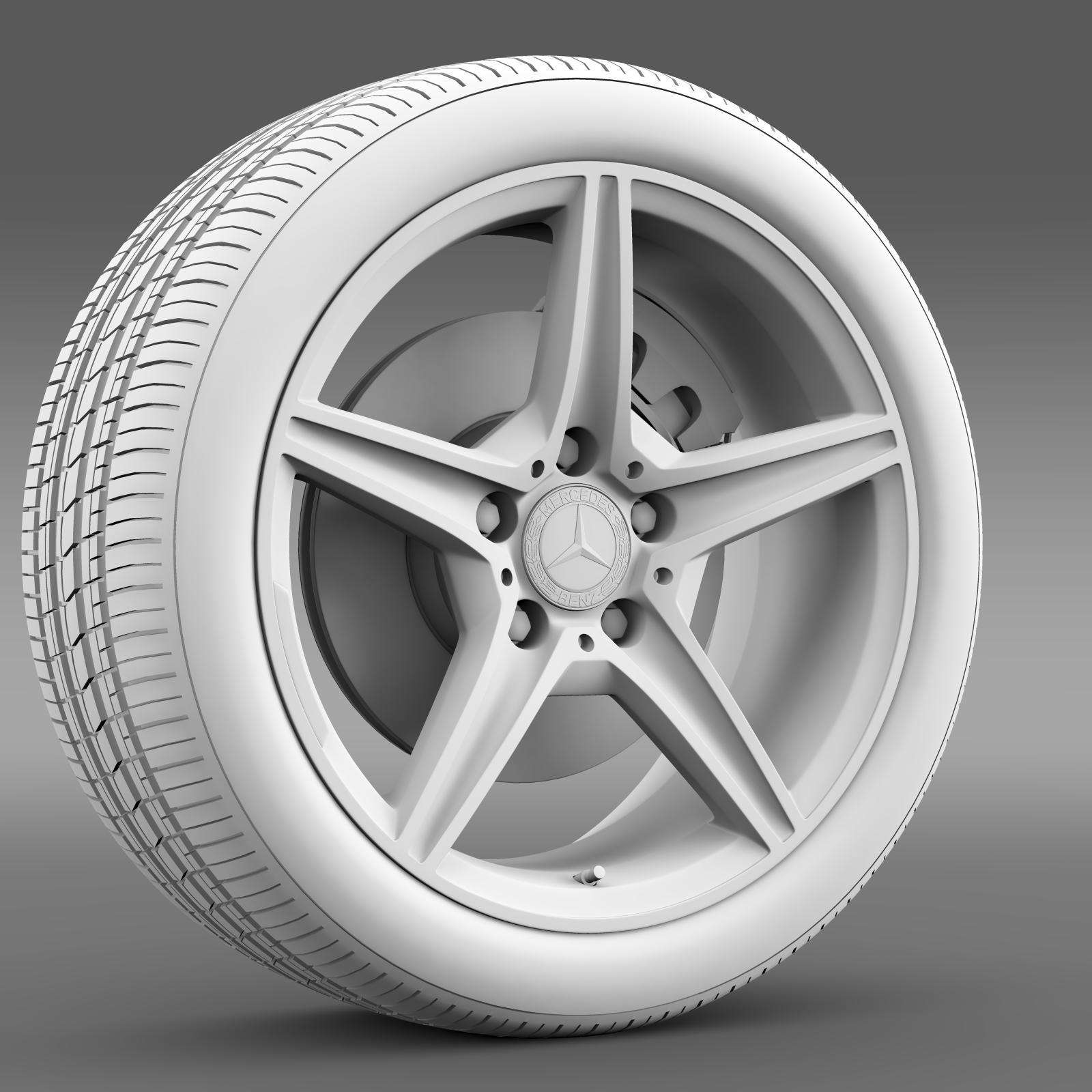 mercedes benz c 400 4matic amg line wheel 3d model 3ds max fbx c4d lwo ma mb hrc xsi obj 210792
