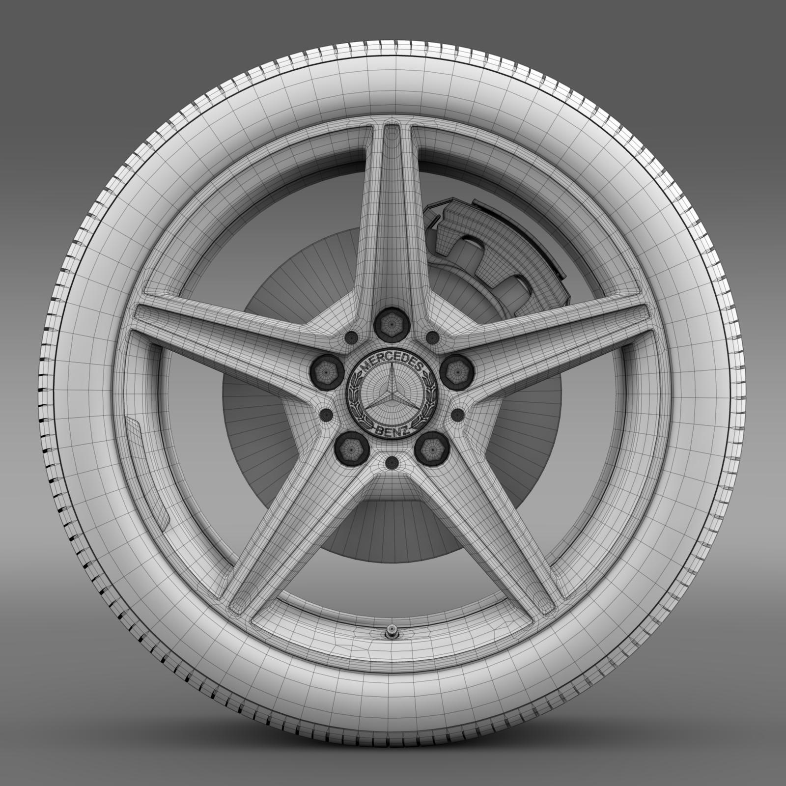 mercedes benz c 400 4matic amg line wheel 3d model 3ds max fbx c4d lwo ma mb hrc xsi obj 210793