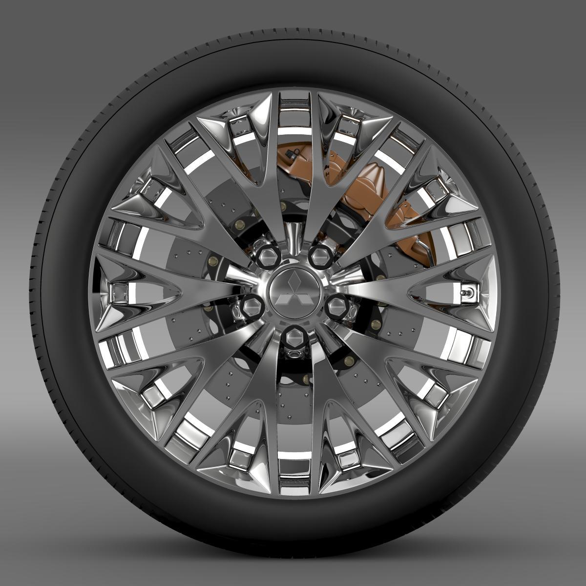 mitsubishi dignity wheel 3d model 3ds max fbx c4d lwo ma mb hrc xsi obj 210799