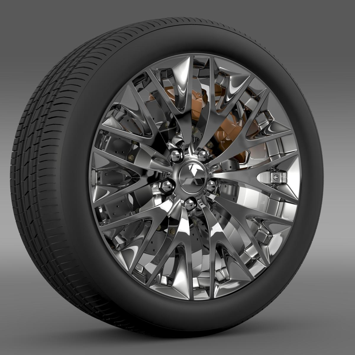 mitsubishi dignity wheel 3d model 3ds max fbx c4d lwo ma mb hrc xsi obj 210800