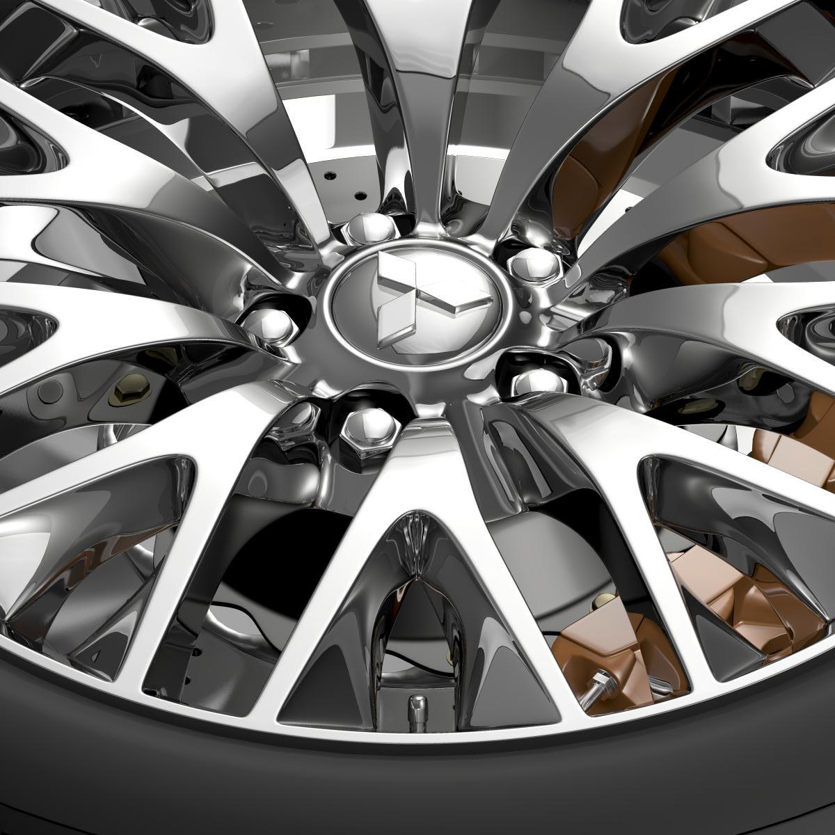 mitsubishi dignity wheel 3d model 3ds max fbx c4d lwo ma mb hrc xsi obj 210801