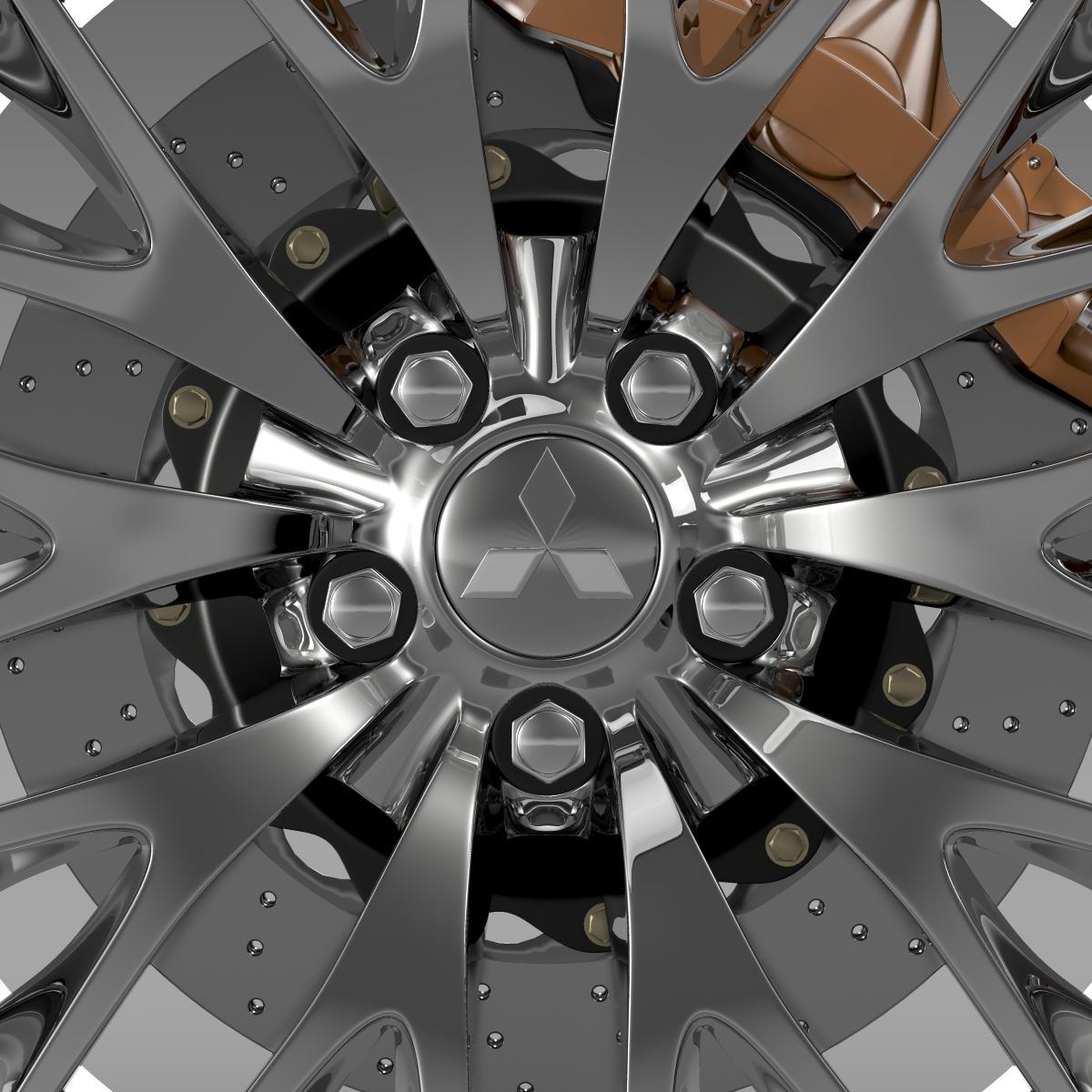 mitsubishi dignity wheel 3d model 3ds max fbx c4d lwo ma mb hrc xsi obj 210802