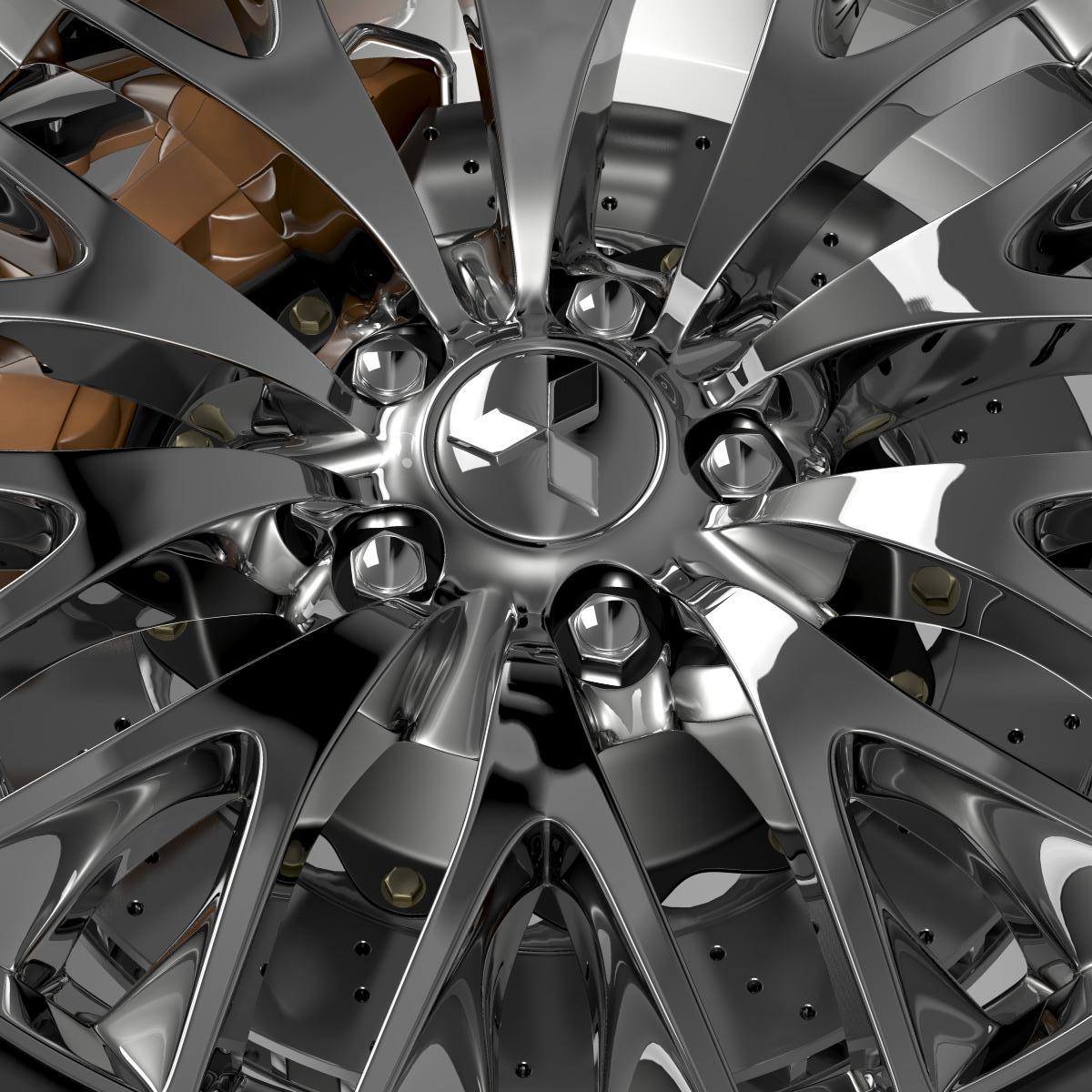 mitsubishi dignity wheel 3d model 3ds max fbx c4d lwo ma mb hrc xsi obj 210803
