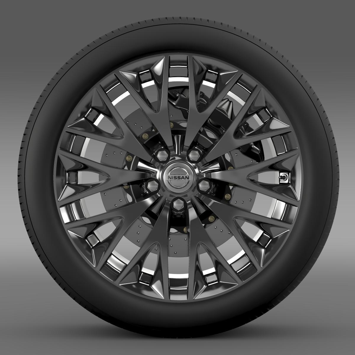 nissan cima hybrid wheel 3d model 3ds max fbx c4d lwo ma mb hrc xsi obj 210814