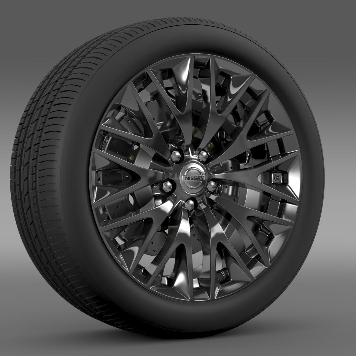 nissan cima hybrid wheel 3d model 3ds max fbx c4d lwo ma mb hrc xsi obj 210815