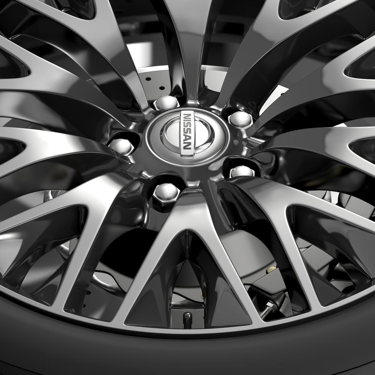 nissan cima hybrid wheel 3d model 3ds max fbx c4d lwo ma mb hrc xsi obj 210816