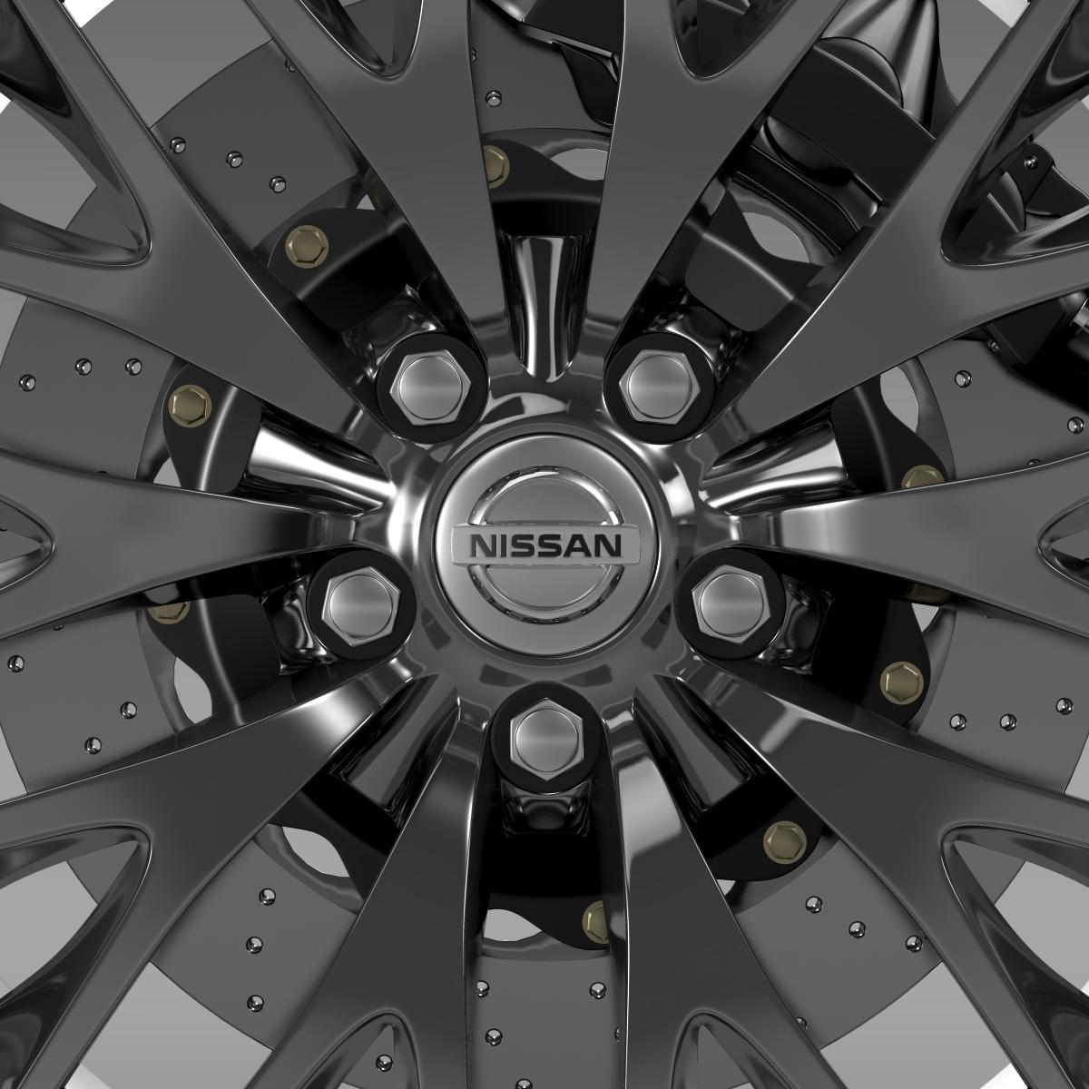 nissan cima hybrid wheel 3d model 3ds max fbx c4d lwo ma mb hrc xsi obj 210817